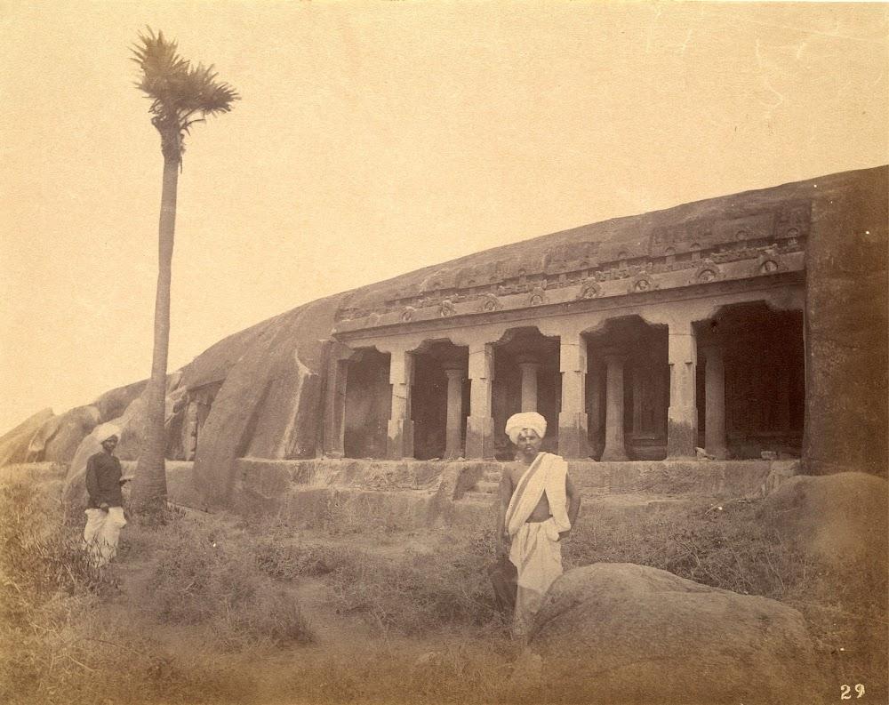 Unidentified Cave Temple, Mamallapuram in Tamil Nadu - c.1885