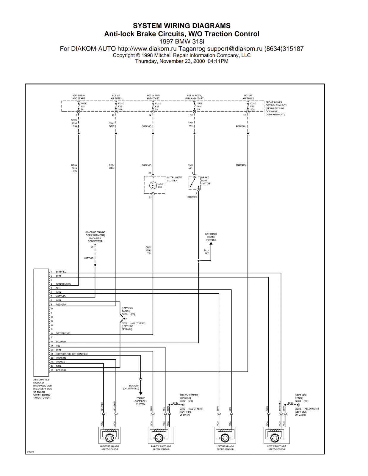 Wiring Diagrams And Free Manual Ebooks  1997 Bmw 318i Anti