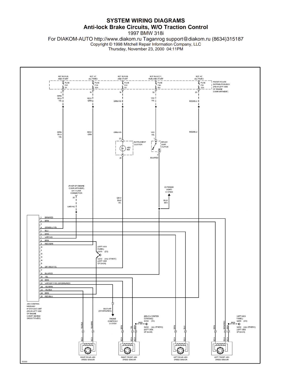Wiring Diagrams and Free Manual Ebooks: 1997 BMW 318i Anti