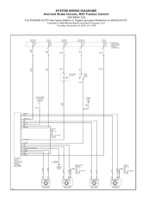 Bmw Z3 Abs Wiring Diagram Nest Diagrams And Free Manual Ebooks: 1997 318i Anti-lock Brake Circuits Without Traction ...