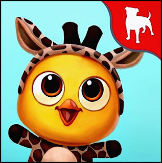 FV2CE, baby chick in giraffe costume