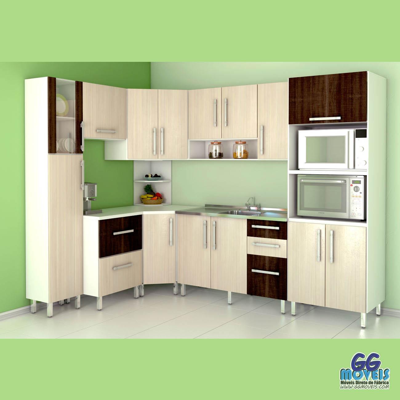 Cozinha Modulada Camaro Mdf 9 P S Georg M Veis