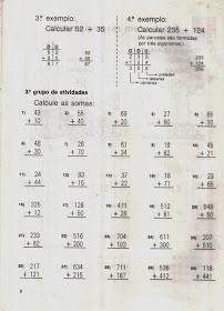 Atividades com tabuada e cálculos de adição, subtração, multiplicação e divisão