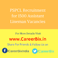PSPCL Recruitment for 1500 Assistant Lineman Vacancies