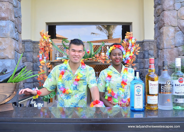 the bar at Lapita's Daycation Brunch