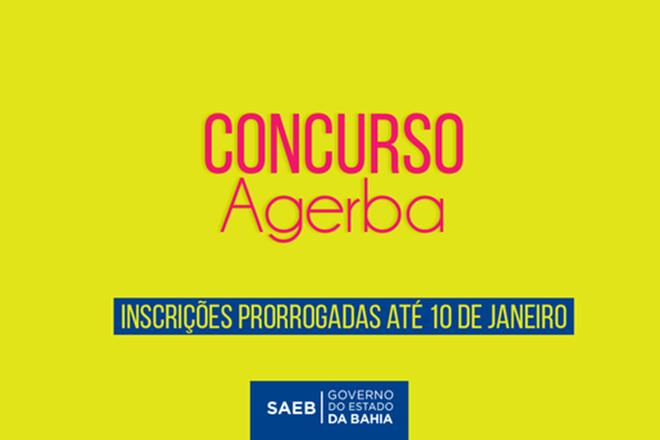 Saeb prorroga inscrições para concurso da Agerba até 10 de Janeiro