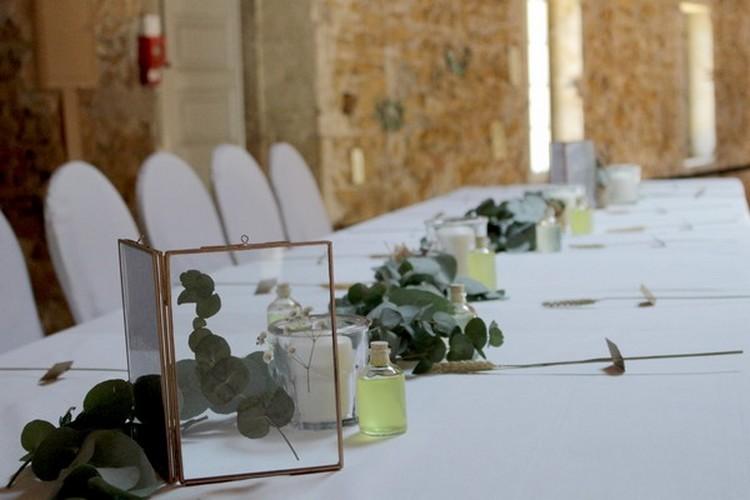 guirlande d'eucalyptus, guirlande végétale, Lyon wedding Florist,
