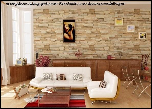 Ambientes con paredes de piedras decoraci n del hogar for Diseno de piedras decorativas