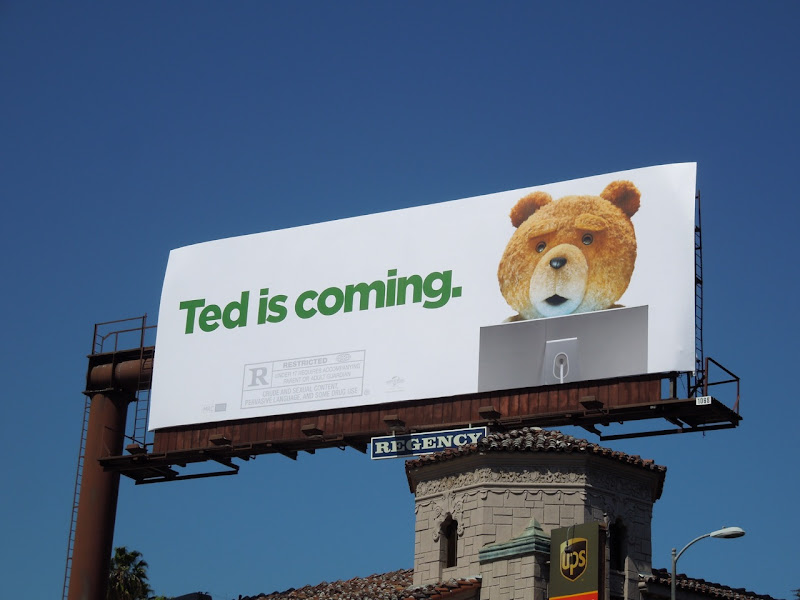 Ted is Coming billboard
