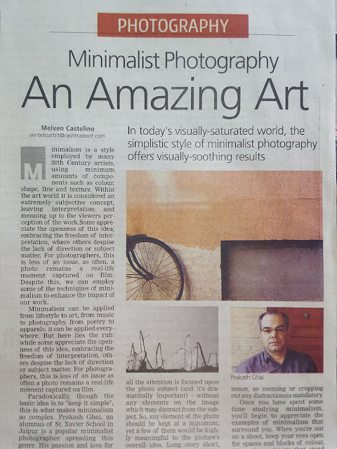Featured in Rashtradoot Newspaper for Minimalist Photography