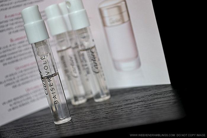 Weekend Ramblings Cartier Baiser Vole Eau De Parfum Sampler Review