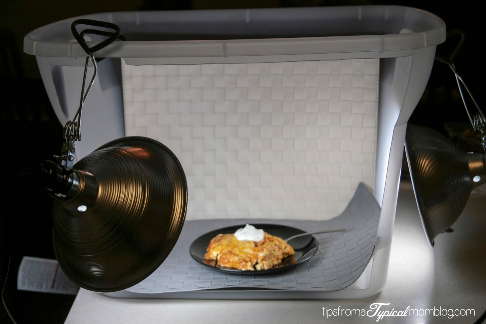 DIY Light Box tutorial for Bloggers photography by Tips From a Typical Mom.