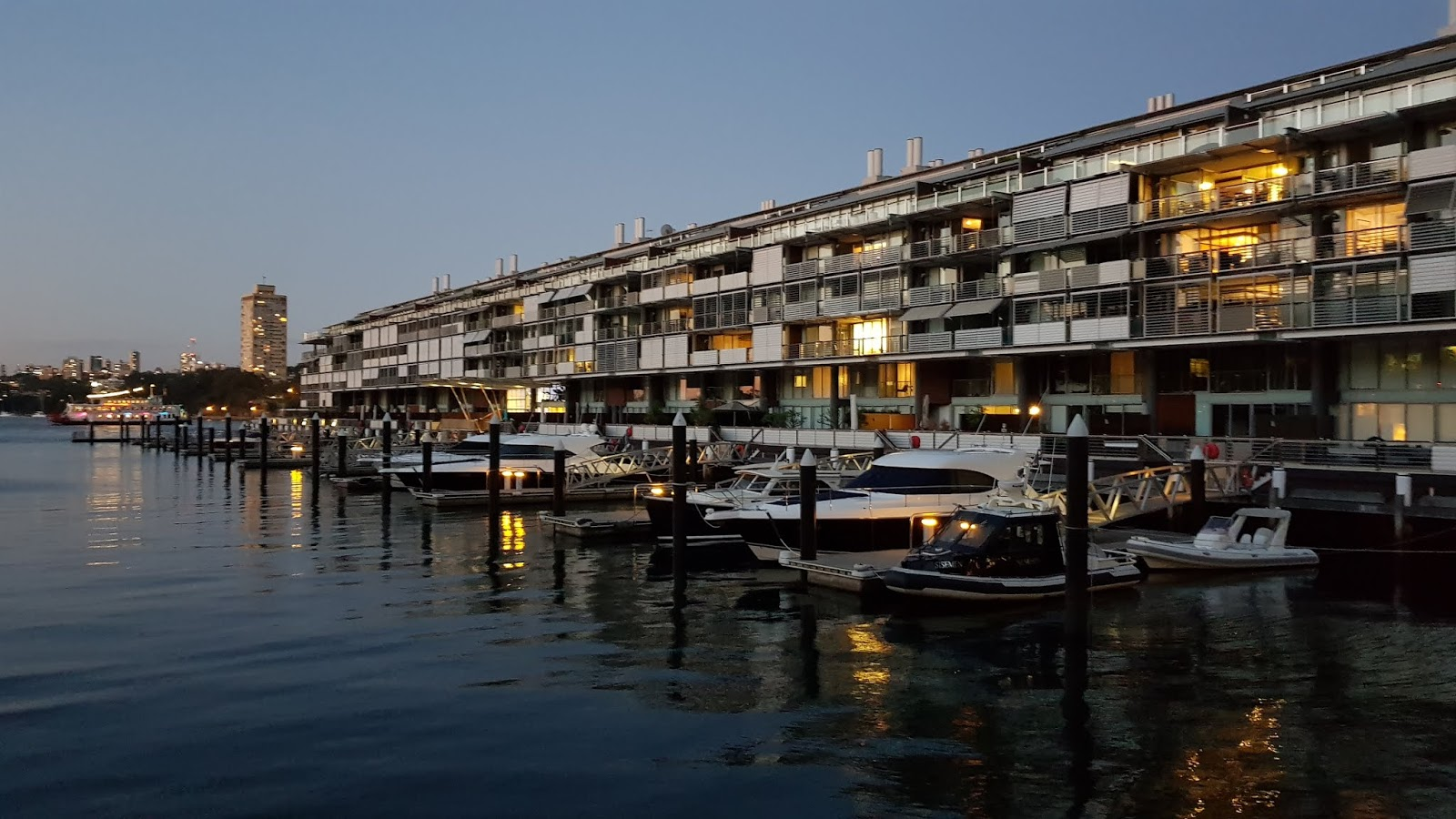The Marina Along Pier 7 At Walsh Bay Dusk In Inner City Suburb Of Millers Point Heritage Listed Wharves Were Originally Part