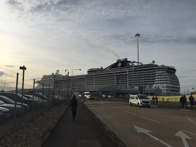 MSC Preziosa cruise ship in dock