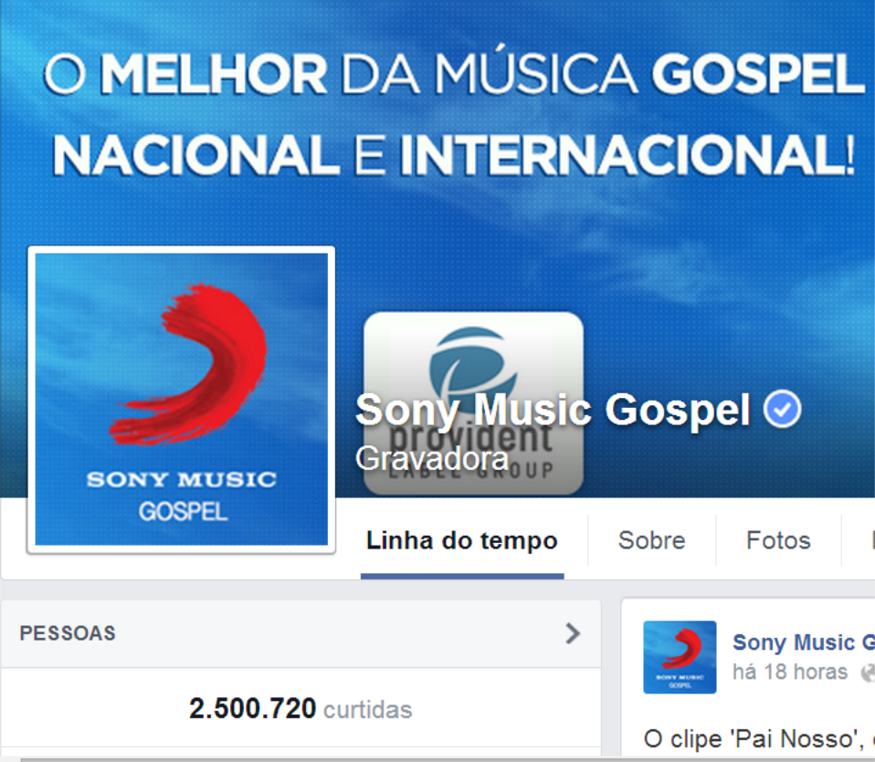 facebook Sony Music Gospel