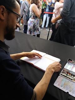 Javi Rey en la Feria del Libro de Madrid.