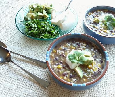 Black Bean, Corn, & Tomatillo Soup
