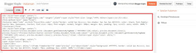 Cara Membuat HTML Editor di Blog dengan Mudah