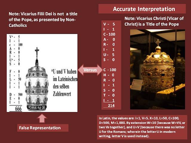 Vicarius Pope Dei 666 Filii Greek