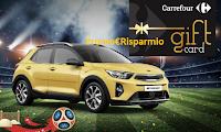 Logo Carrefour: fai la tua spesa e vinci 480 Gift Card e 1 Kia Stonic