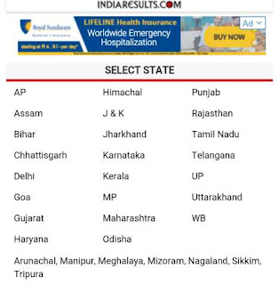 Indiaresults par state select kare