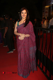Telugu Television Anchor Anasuya Stills in Saree at Gemini TV Puraskaralu 2016 Event  0097.JPG