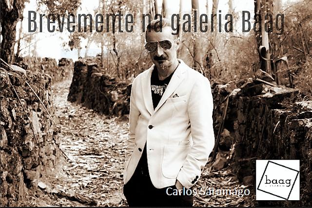 Carlos Saramago na galeria baag em Fevereiro de 2018