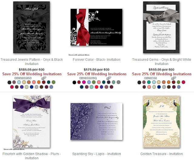 918fd36ae8 David's Bridal - 25% Off ALL Wedding Invitations/Invites Promo Code ...