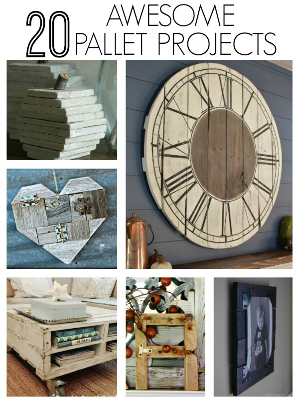 20 can't miss creative and unique ways to recycle and reuse wood pallets! - www.littlehouseoffour.com