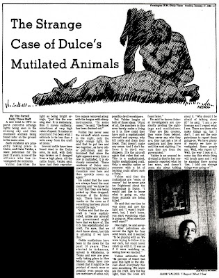 The Strange Case of Dulce's Mutilated Animals - Farmington Daily Times 1-17-1982