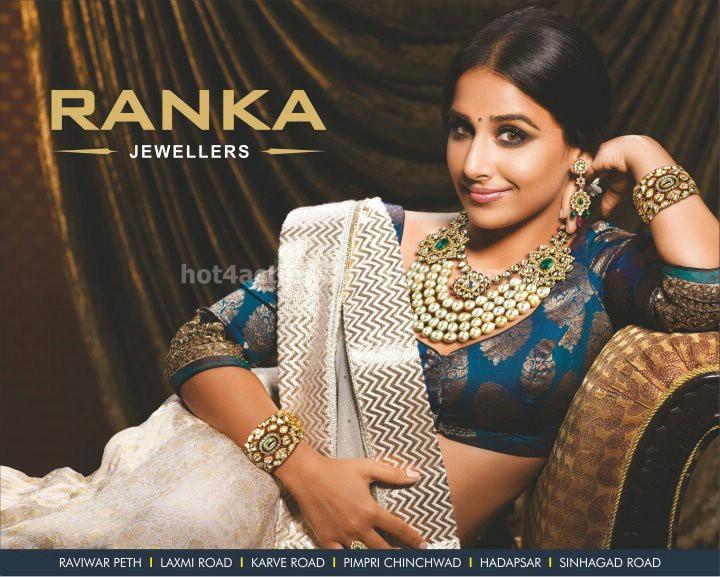 Vidya Balan Cute Photo Shoot Gallery For Ranka Jewellers Ads