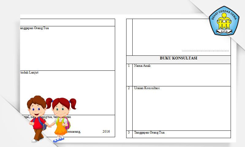 Format Buku Konsultasi Orang Tua dengan Guru (Administrasi Guru PAUD)