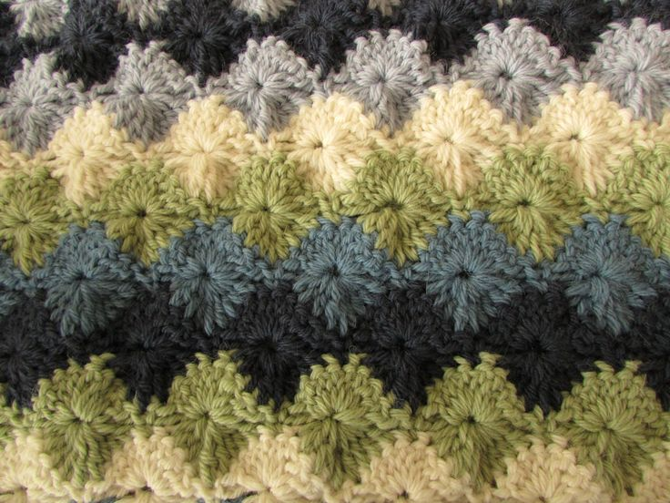Easy Crochet Blanket Starburst Stitch Blanket Tutorial