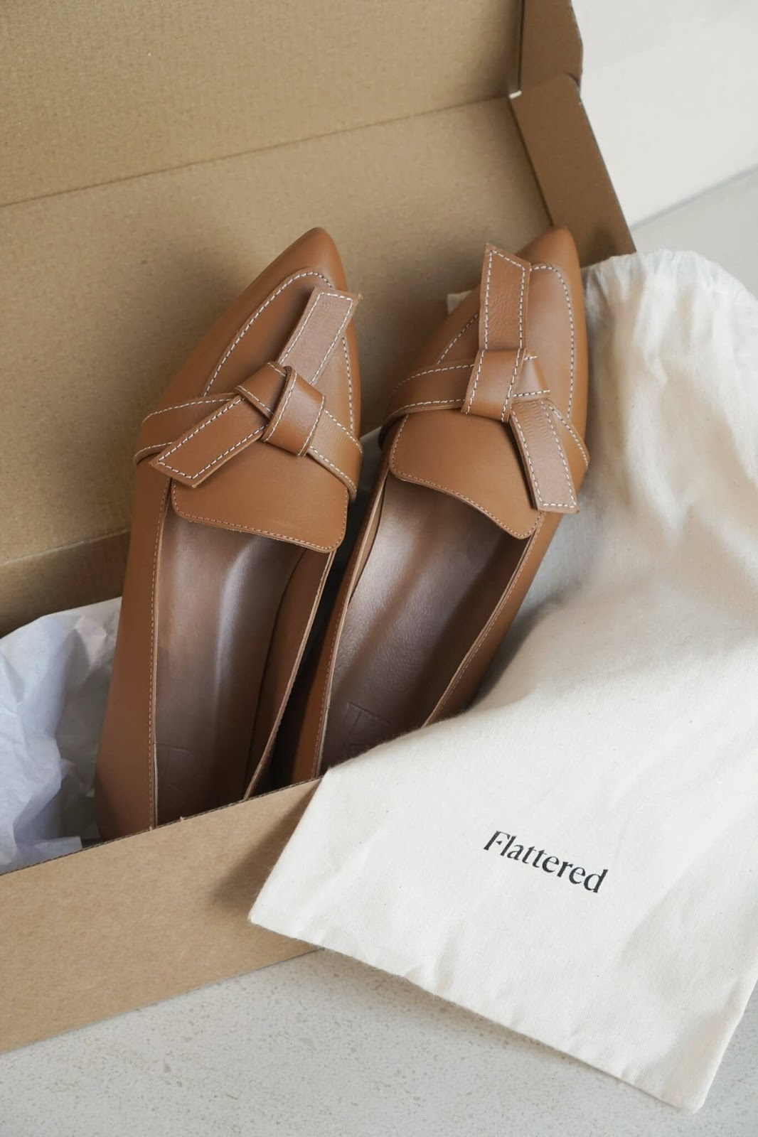 ally leather loafers