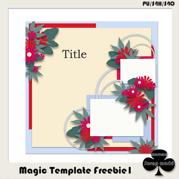 Magic Template Freebie1 by moromu Scrap world