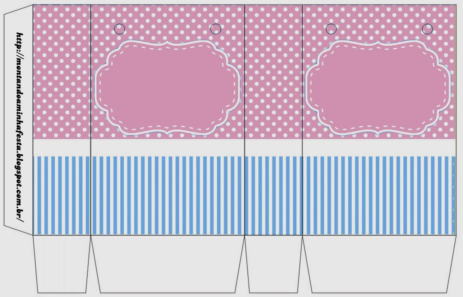 Rosado y Celeste: Cajas para Imprimir Gratis. | Ideas y ...