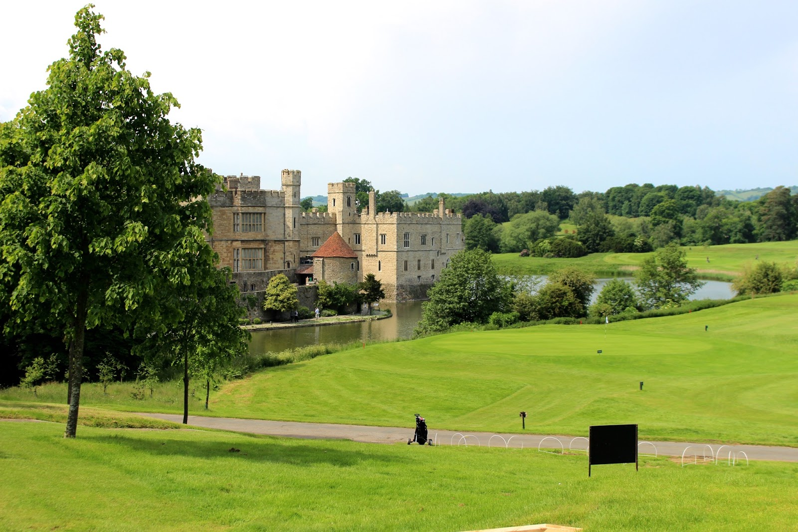 Photo of golf course overlooking Leeds Castle