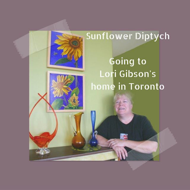 Lori Gibson is heading back home to Toronto to find the perfect spot to hang her new painting Sunflower Diptych!