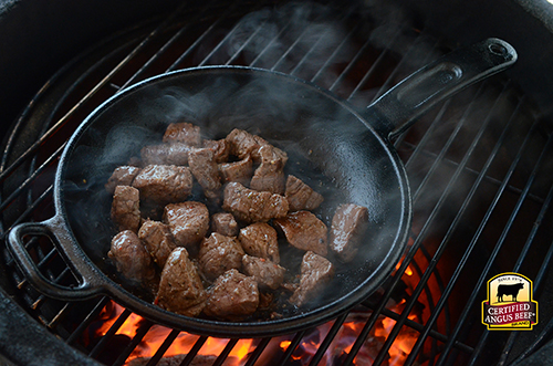 Recipe for Certified Angus Beef Tips using beef tenderloin