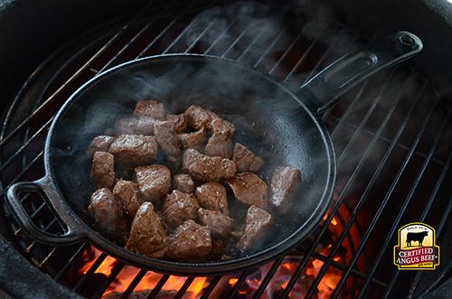 Recipe for Certified Angus Beef Tips using beef tenderloin