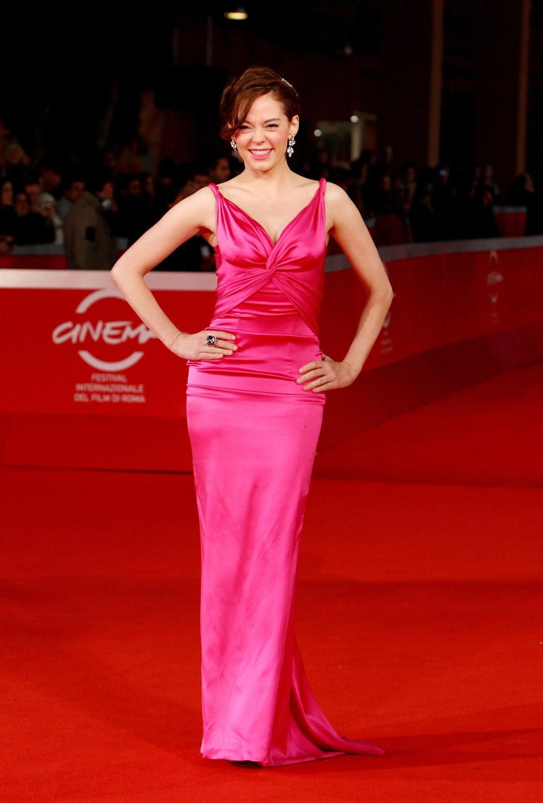 Ladies In Satin Blouses Rose Mcgowan Pink Satin Dress