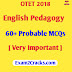 OTET 2018 English Pedagogy 60+ Probable MCQs