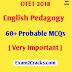 OTET 2018 English Pedagogy 60+ Probable MCQs