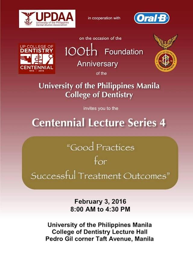 UPCD Centennial Lecture 4