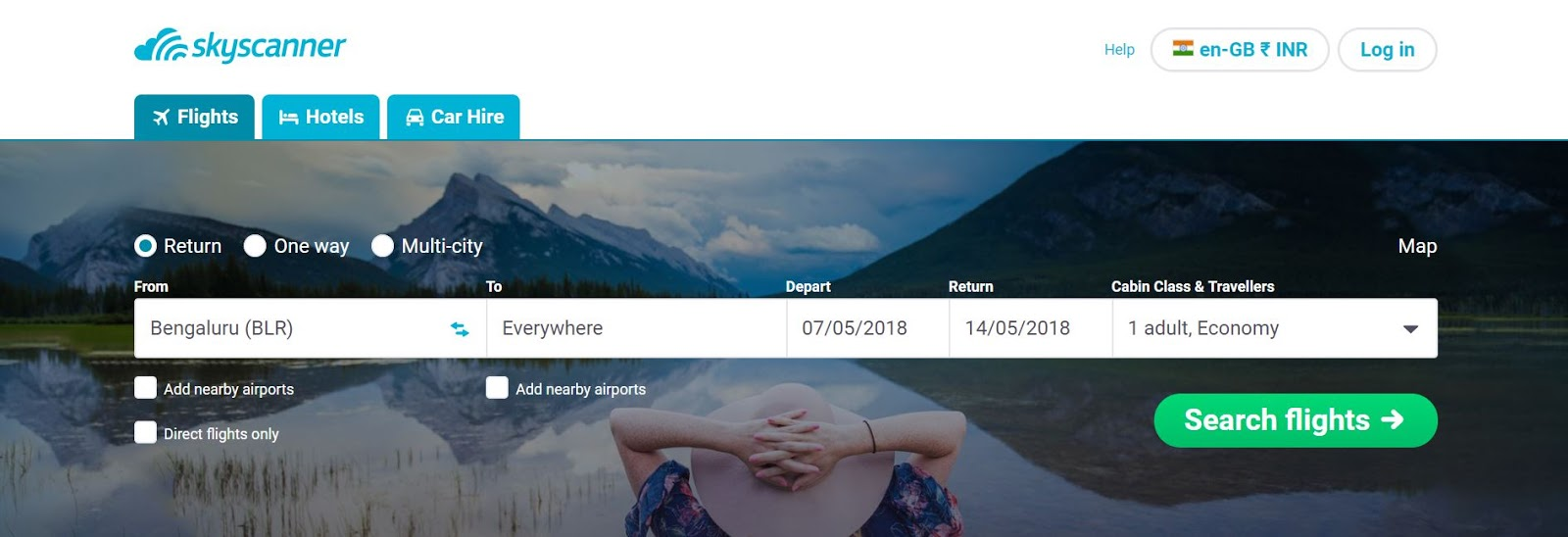 Skyscanner coupons international