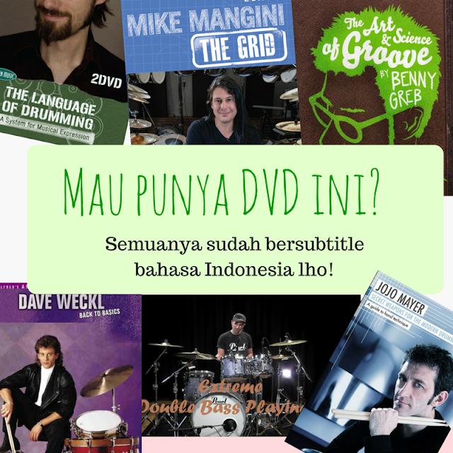 Jual DVD Belajar Drum Subtitle Indonesia