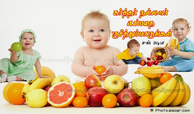 Tamil Desktop Cute HD Bible Verse Wallpaper