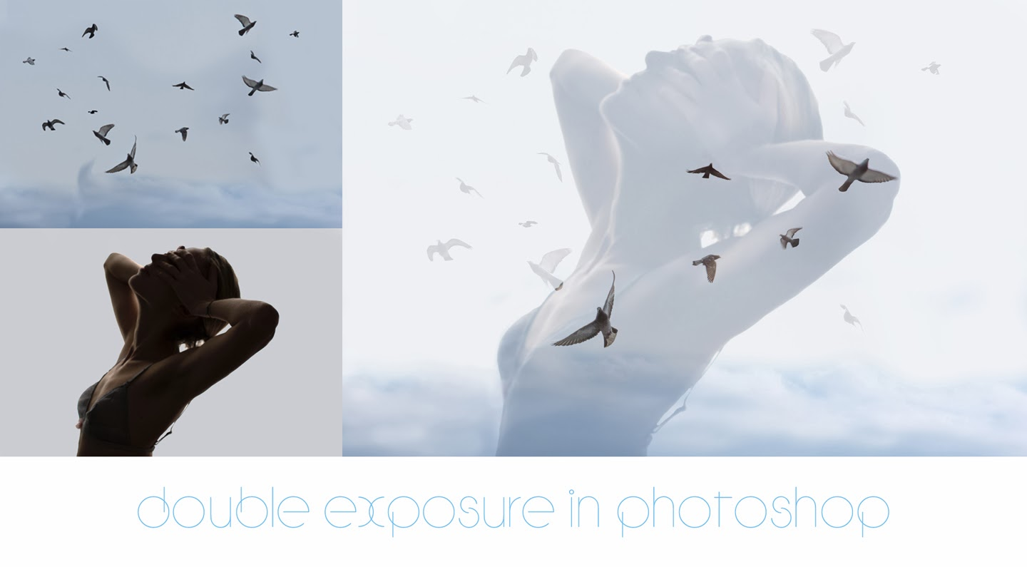 how to create double exposure effect in Photoshop
