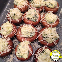 Artichoke Dip Stuffed Mushrooms