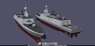 Interpretación artística de las fragatas 054B